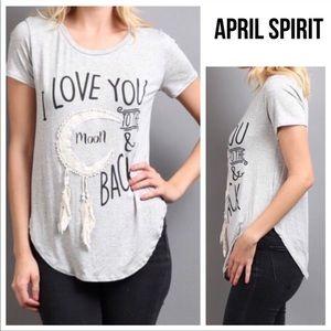 "[April Spirit] ""I love you to the moon"" tee shirt"